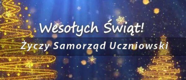 Życznia od Samorządu Uczniowskiego