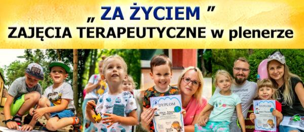 """""""ZA ŻYCIEM"""" – zajęcia terapeutyczne w plenerze"""
