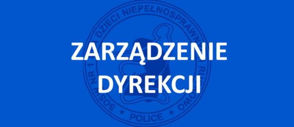 Zarządzenie Dyrektora nr. 19/2020