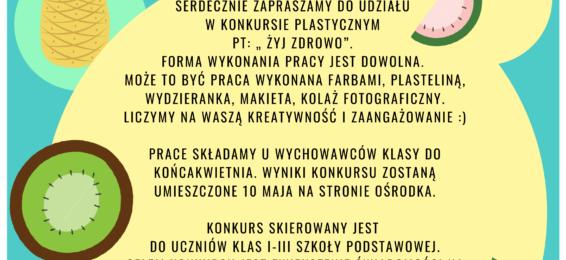 """Konkurs """"Żyj Zdrowo"""""""
